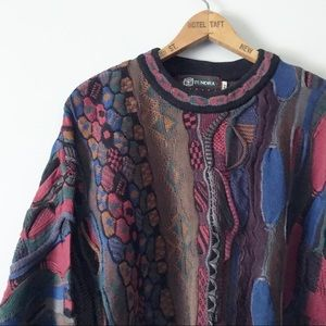 Vintage Tundra Multi Print colorful knit Sweater